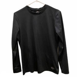 Game Time Fitted Athletic Long Sleeve Black XL